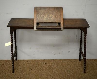 Lot 39 - Oak reading stand.
