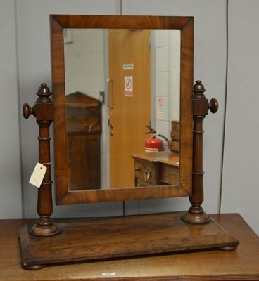 Lot 41 - Victorian mahogany toilet mirror