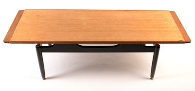 Lot 62 - G-Plan E Gomme: a tola and black 'Librenza coffee table.