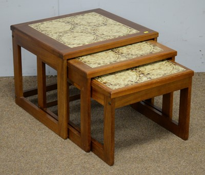 Lot 27 - Nest of three mid Century occasional tables.