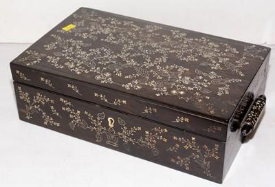 Lot 386 - Late 19th Century Ango-Indian coromandel writing box
