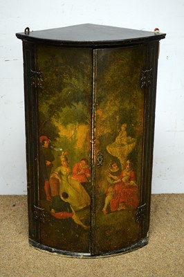 Lot 44 - An 18th Century painted corner cabinet.