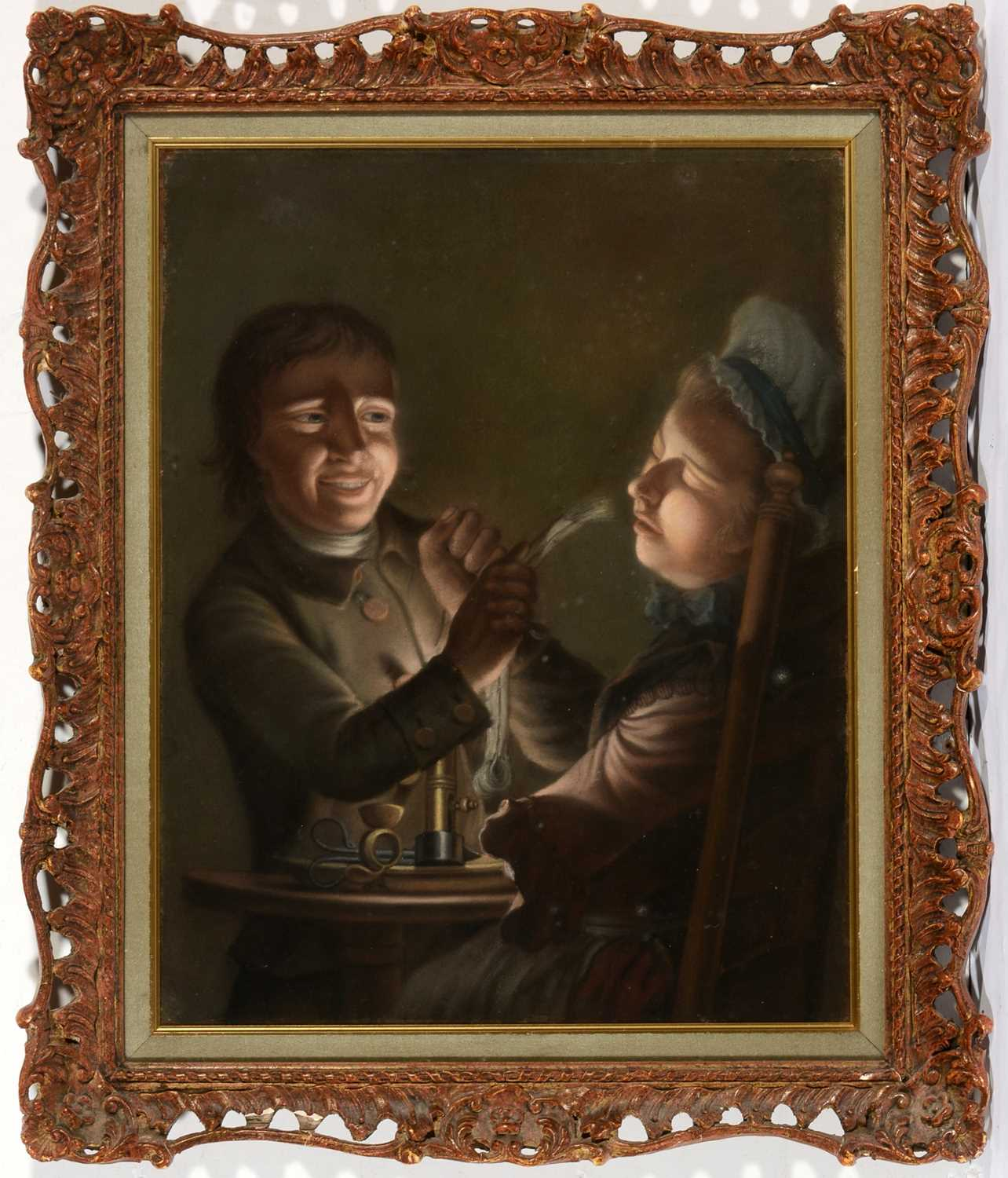 Lot 667 - After Joseph Wright of Derby - Pastel