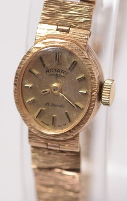 Lot 226 - A lady's 9ct gold cased Rotary cocktail watch.