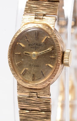Lot 232 - A lady's 9ct gold cased Rotary wristwatch.
