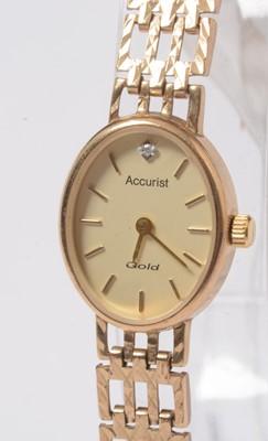 Lot 233 - A lady's diamond set 9ct gold Rotary wristwatch.