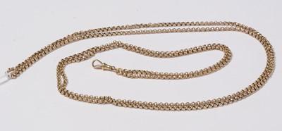 Lot 237 - An antique yellow-mental belcher link guard chain.