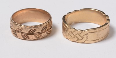 Lot 246 - Two 9ct gold bands.
