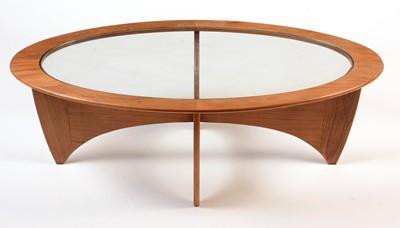 Lot 60 - G-Plan: a teak 'Astro' pattern coffee table.