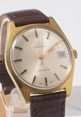 Lot 249 - A gentleman's gold-plated Omega wristwatch.