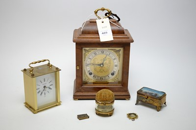 Lot 489 - Two clocks and other items