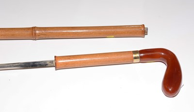 Lot 410 - 20th century bamboo swordstick