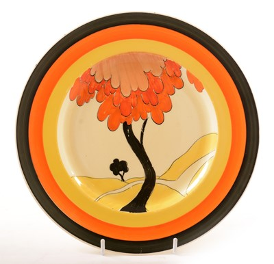 Lot 1 - Clarice Cliff style plate