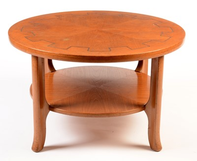 Lot 67 - Nathan: a mid Century circular teak two-tier coffee table.