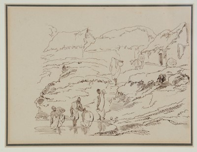 Lot 660 - Lieutenant-Colonel George Francis White - pen and ink.