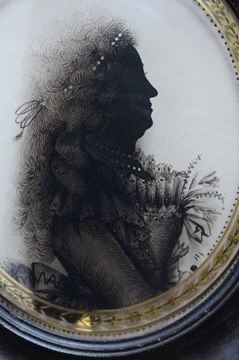 Lot 669 - Isabella Beetham (1753-1825) - silhouettes.
