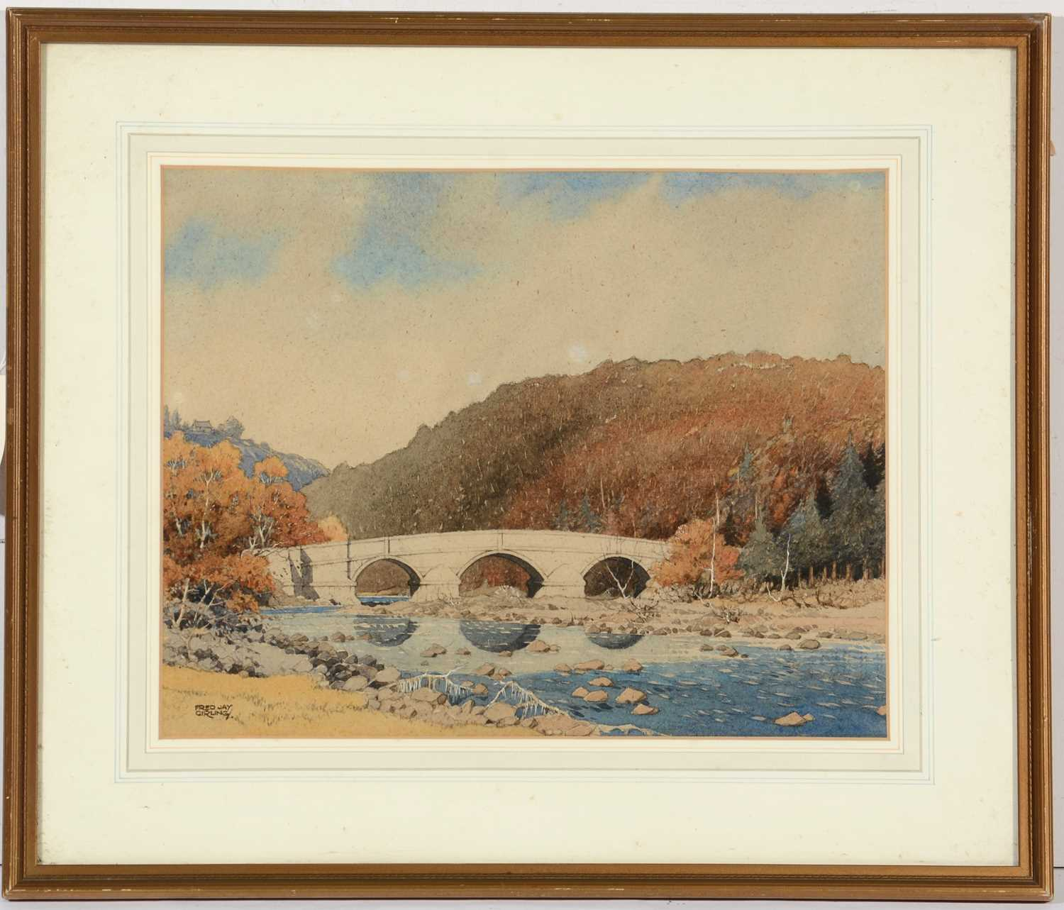Lot 686 - Fred Jay Girling - watercolour.