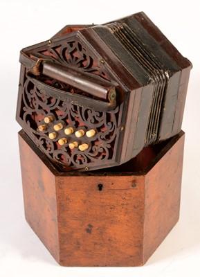 Lot 273 - A 21 button Concertina