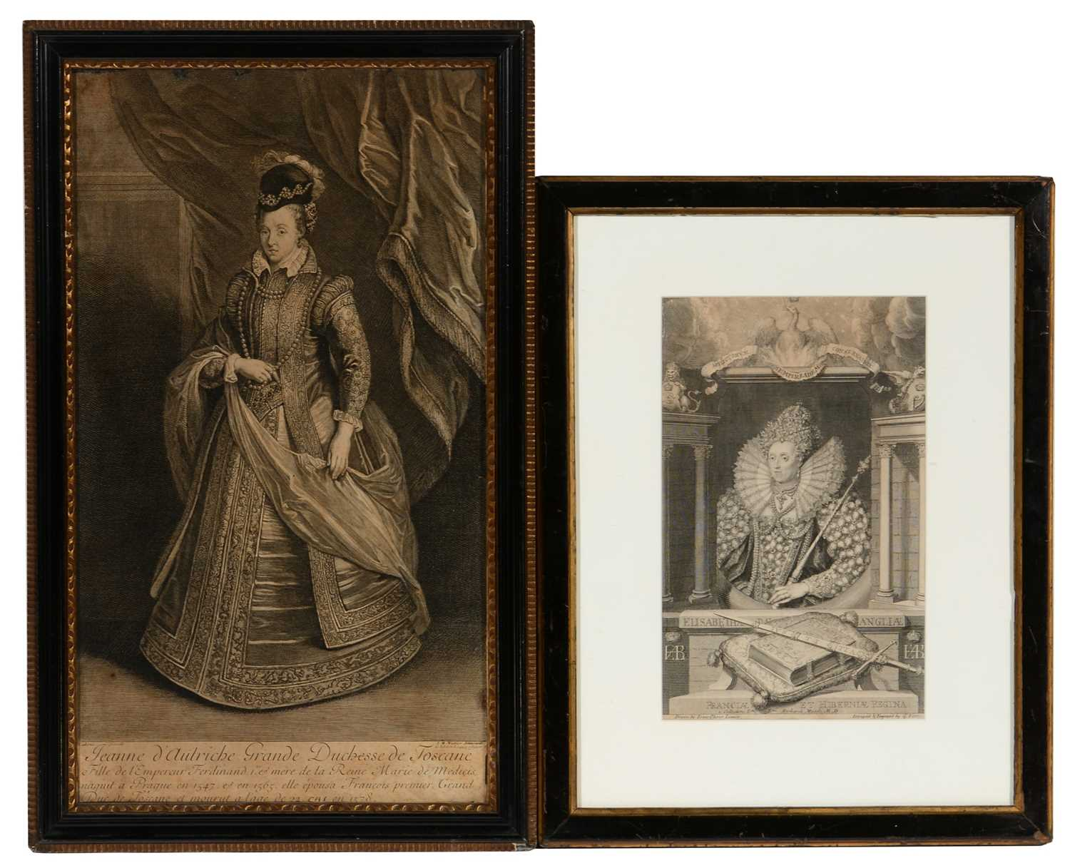 Lot 610 - Two engravings of monarchs, including one after Peter Paul Rubens.
