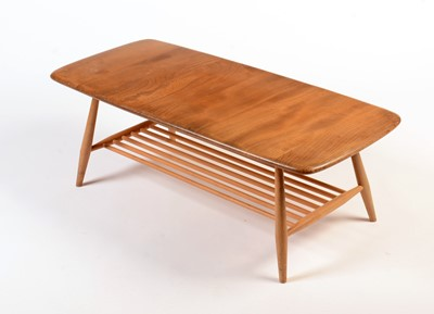 Lot 54 - Ercol: a light elm and beech 'Windsor' Model 459 occasional coffee table.