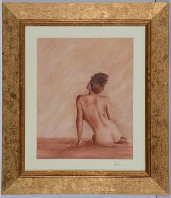 Lot 692 - Gordon Robinson - painting on satin.