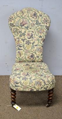 Lot 65 - A Victorian walnut child's chair.
