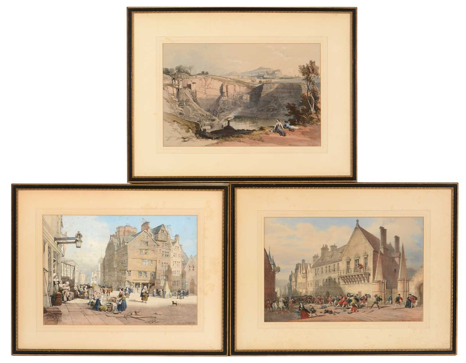 Lot 617 - After J* Nash and W L Leitch - lithographs