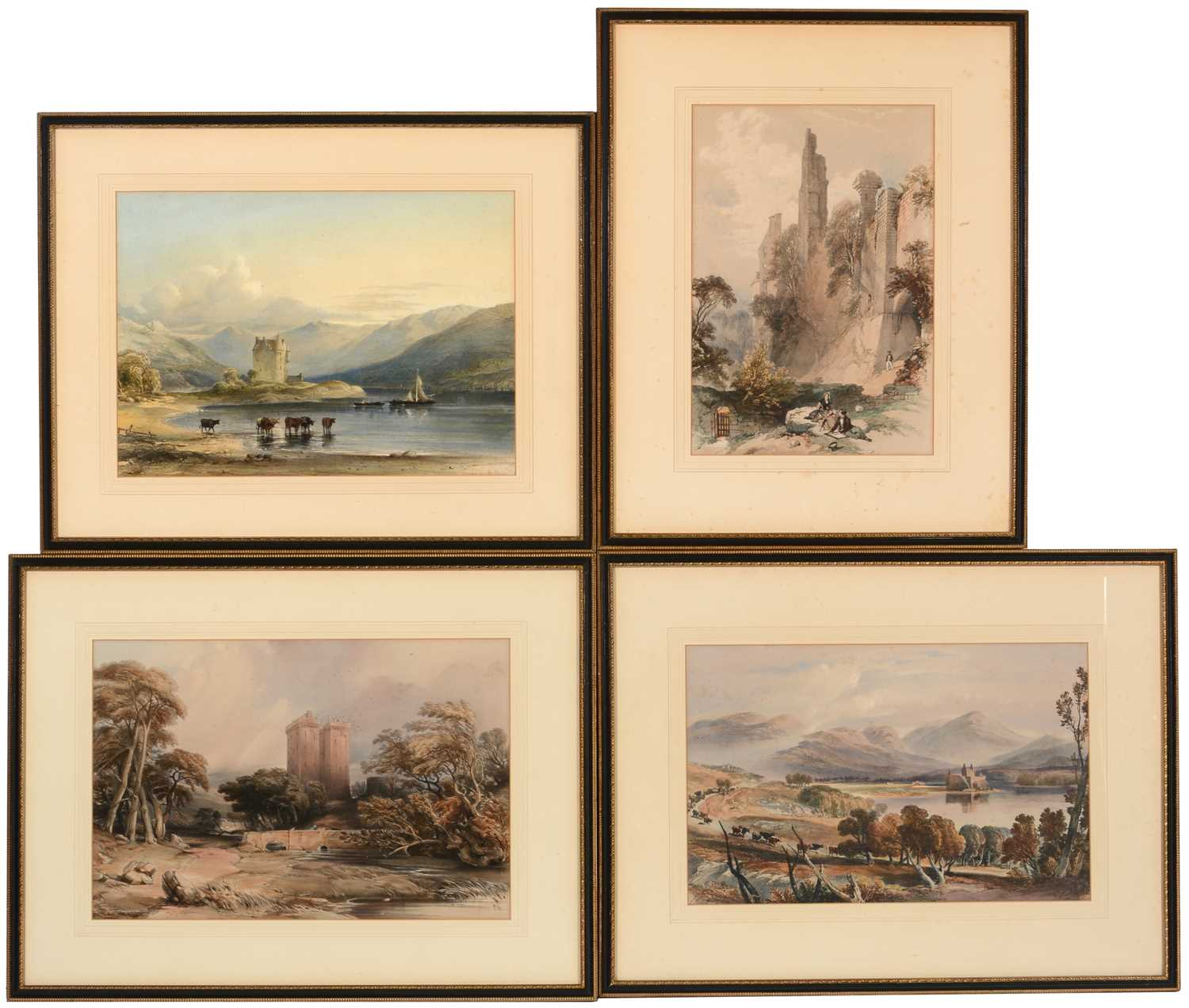 Lot 612 - After W L Leitch and three others - Lithographs