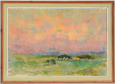 Lot 776 - Barry Norman - oil.