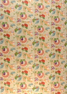 Lot 24 - Mid 20th C Screen-printed fabric by P. Kaufmann
