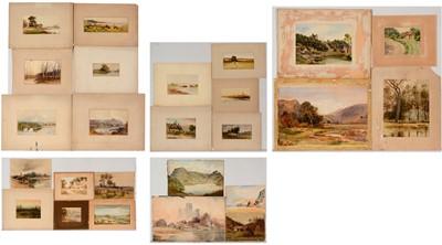 Lot 703 - British School, 19th Century- watercolours.