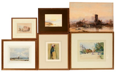 Lot 704 - British School, 19th Century - watercolours.