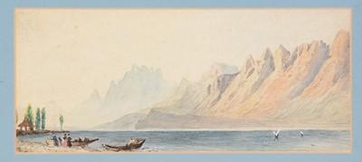 Lot 672 - British School, 19th Century - watercolours