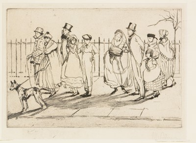 Lot 653 - British School, 19th Century - etching and watercolours.