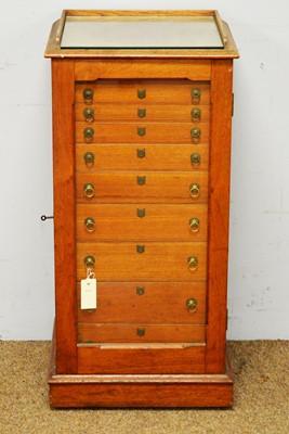 Lot 25 - Victorian oak glazed cabinet.
