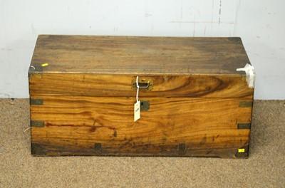 Lot 63 - A small 19th C rectangular camphor wood trunk.