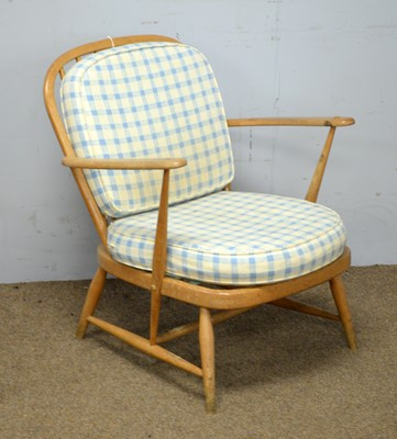 Lot 69 - Ercol Windsor low armchair.