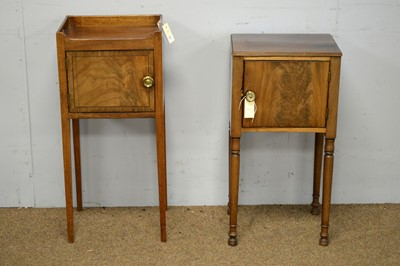 Lot 72 - Two 19th C mahogany night cupboards.