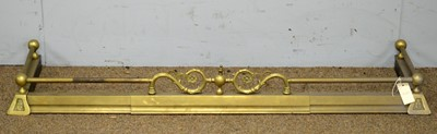 Lot 74 - Early 20th C brass fender.