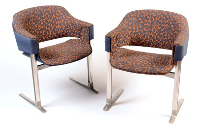Lot 88 - Robert Heritage for Race Furniture: a pair QE2 Restaurant chairs.