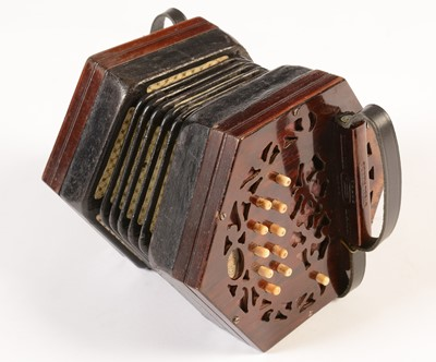 Lot 270 - Lachenal Anglo system Concertina