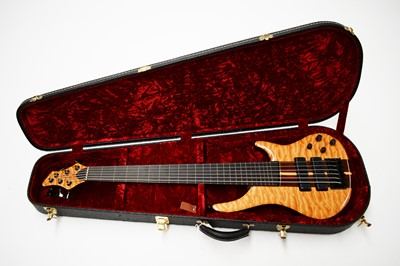 Lot 322 - John Shuker Custom Jeremy Meek active six string fretless Bass
