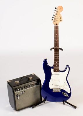 Lot 315 - Fender Squier Affinity Series Strat. Frontman practice amp.