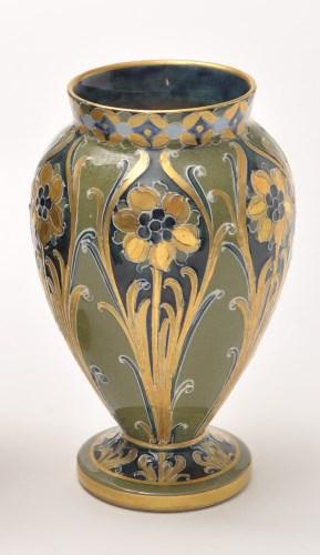 Lot 277-Macintyre Moorcroft miniature vase, 'green and...