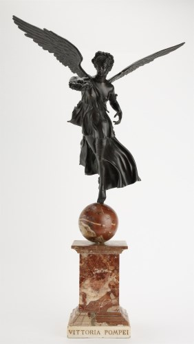 Lot 391-19th Century patinated Italian Grand Tour bronze...