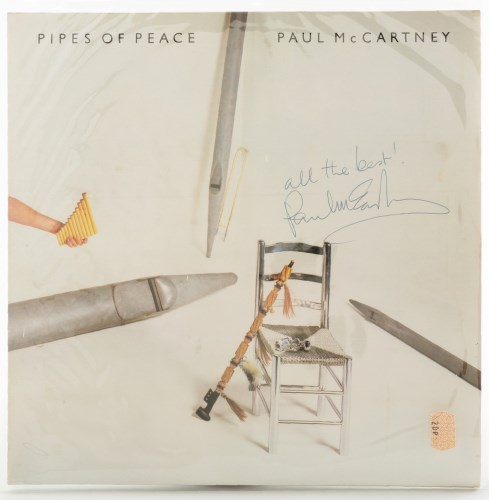 Lot 490-Paul McCartney: a signed copy of 'Pipes Of Peace',...