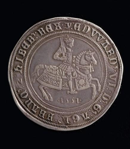 Lot 599-Edward VI Crown 1551, Mint Mark Y, S.2478. A few...