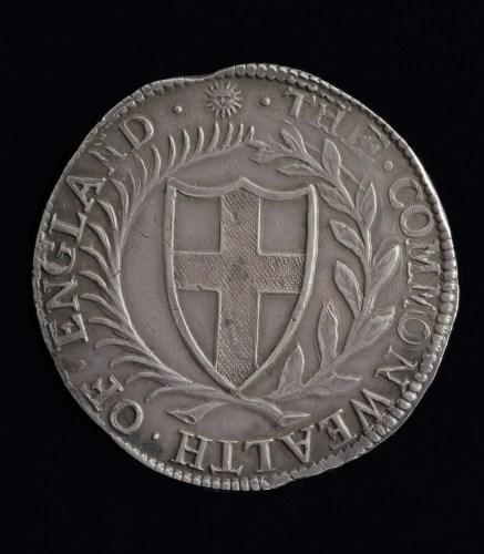 Lot 602-Commonwealth Crown 1653, Mint Mark Sun, S.3212....