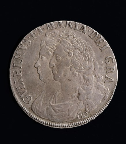 Lot 605-William and Mary Scottish Sixty Shillings 1692, S....