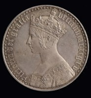 Lot 612-Victoria 'Gothic' Crown 1847, with lettered...